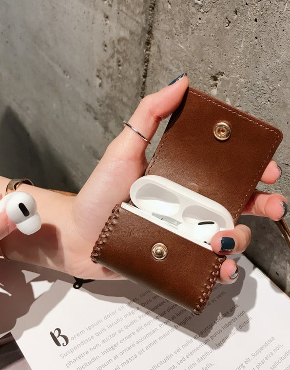 Leather Bag Airpod Case for  1/2/3/Pro