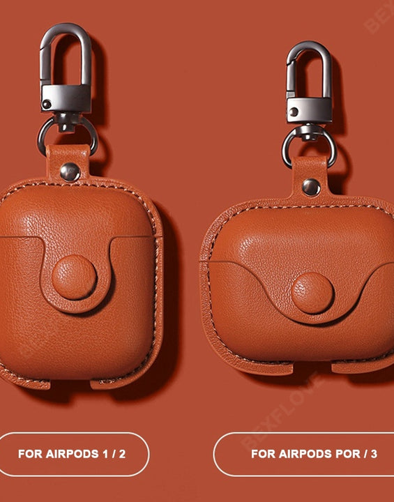 Colour-Rich Leather  Luxury Case For Apple AirPods 1/2/3/Pro