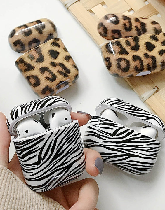 Leopard Zebra Pattern Wireless Charging Case For AirPods 1/2/3/Pro