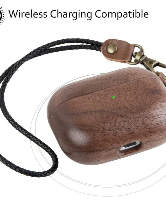Retro Luxury Wood Protective Case For Airpods 1/2/3/Pro