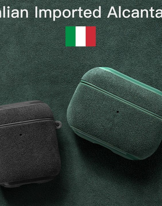 Italian Alcantara Luxury Case for AirPods Pro/3