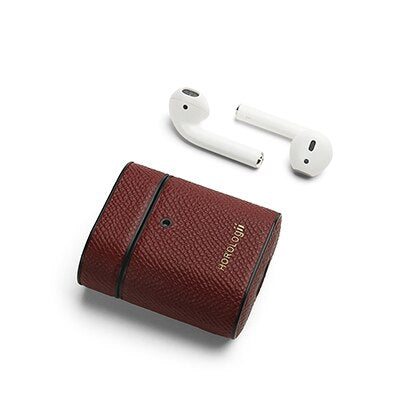 Personalized Name  Italian Leather Airpod 1/2 Case