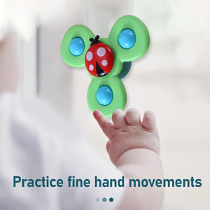 Funny Kids Toys Cute Cartoon Insects Suction Cup Spinner Toy Baby Rattle Toy Spin Rotating Top Funny Bath Toys For Children Fidget Spinner Aliexpress
