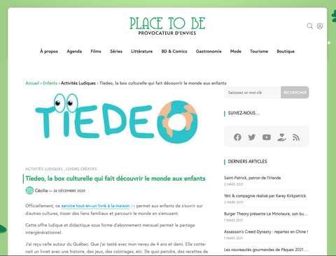Tïedeo : Place to Be