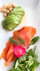 Avocado and salmon - Healthy grocery store options