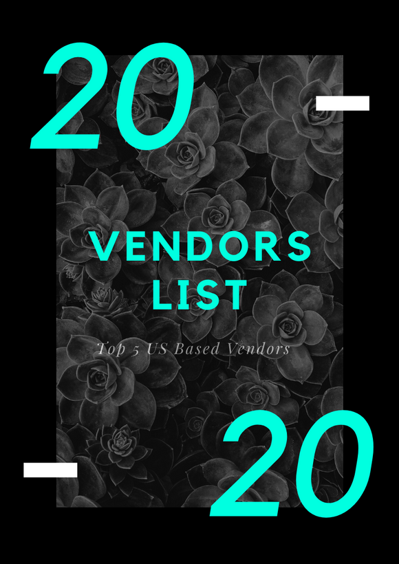 2020 Top 5 Vendors List