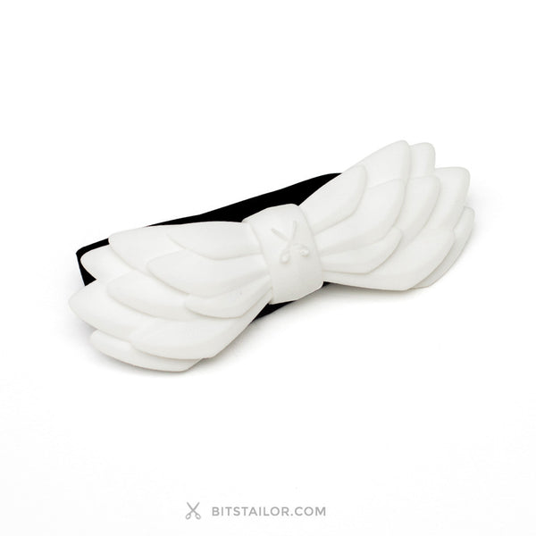 White Airline bowtie - Ready to ship