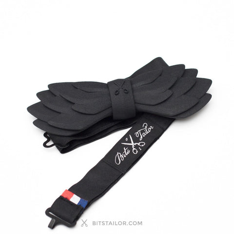 Black Airline bowtie - Ready to ship