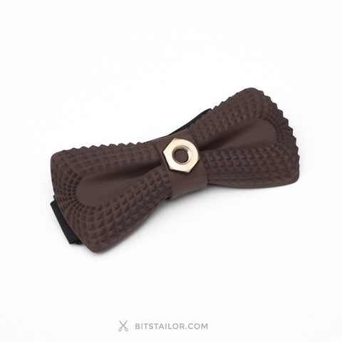 Black Crocodile Dandy Bridge bowtie with Golden chain - Ready to ship