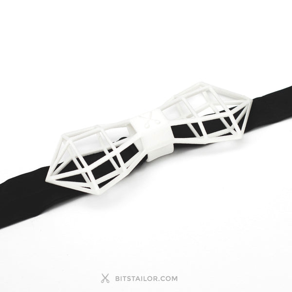 White Wireframer bowtie - Ready to ship