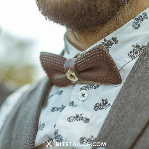 White Organic bowtie - Ready to ship