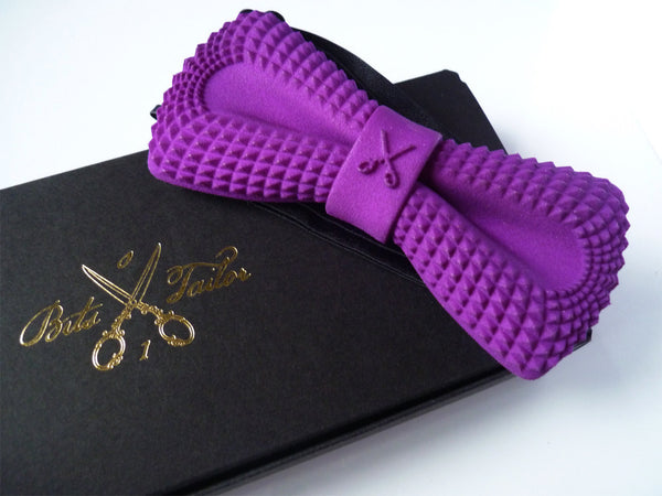 Purple Crocodile Dandy bowtie - Ready to ship
