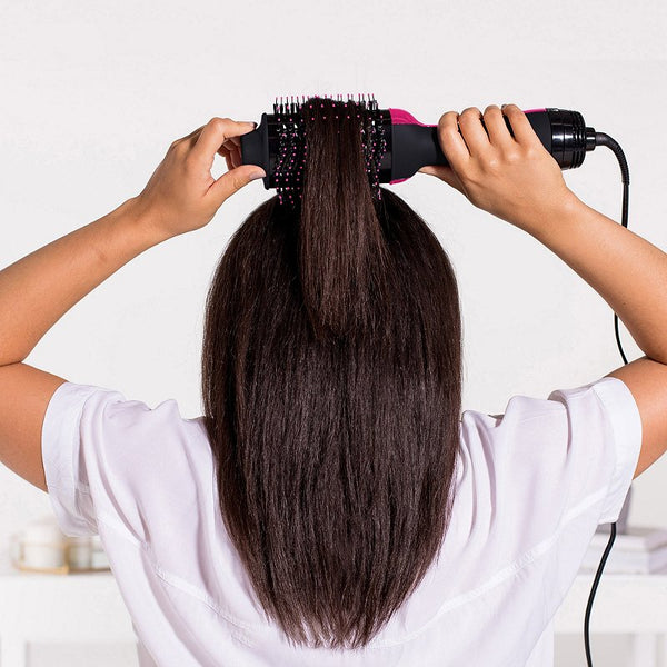 One Step Hot Hair Brush - 4 in 1 Drying, styling, curling and straightening