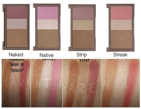 Naked Flushed blush palette STRIP