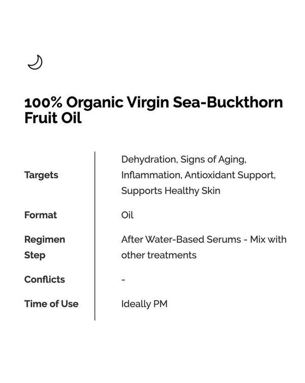 100% Organic Sea-Buckthorn Fruit Oil 30ml