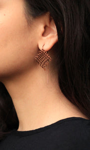 Tissage carré Earrings