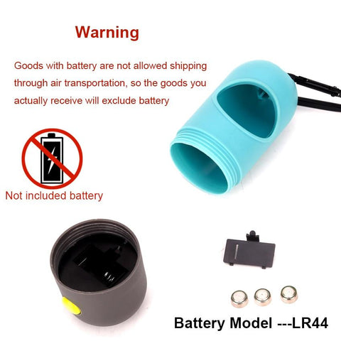 does NOT come with batteries for the flashlight extension