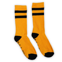 Pumpkin / Black 2 Stripe Crew Sock