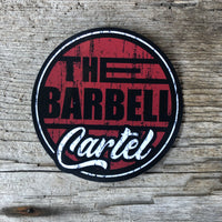 "4x4 "" Long Beach "" sticker ( Black / Red ) - The Barbell Cartel , Weightlifting, wrist wraps, booty shorts, mesh leggings, weight belt, Board shorts"