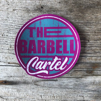 "4x4 "" Long Beach "" sticker ( Pink / Aqua ) - The Barbell Cartel , Weightlifting, wrist wraps, booty shorts, mesh leggings, weight belt, Board shorts"