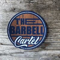 "4x4 "" Long Beach "" sticker ( Navy / Orange ) - The Barbell Cartel , Weightlifting, wrist wraps, booty shorts, mesh leggings, weight belt, Board shorts"