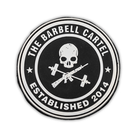 Jolly Roger Silicone Patch - The Barbell Cartel , Weightlifting, wrist wraps, booty shorts, mesh leggings, weight belt, Board shorts