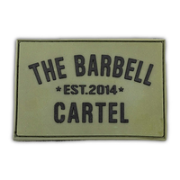 Silicone Patch (Military Green) - The Barbell Cartel , Weightlifting, wrist wraps, booty shorts, mesh leggings, weight belt, Board shorts