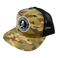 Jolly Roger Snap Back ( Multicam / Black ) - The Barbell Cartel , Weightlifting, wrist wraps, booty shorts, mesh leggings, weight belt, Board shorts