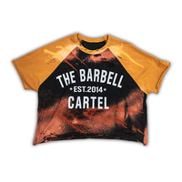 Classic Logo Distressed Baseball Tee ( Black / Gold ) - The Barbell Cartel , Weightlifting, wrist wraps, booty shorts, mesh leggings, weight belt, Board shorts