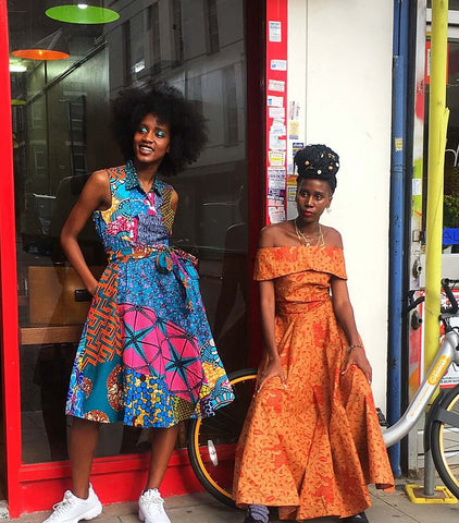 African print wrap dress| Sosome Shop