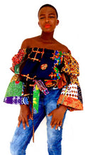 Load image into Gallery viewer, Adita  Africa print top boho style - SOSOME