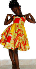 Load image into Gallery viewer, Ballerina Girls Yellow African print dress age 2-3 years - SOSOME