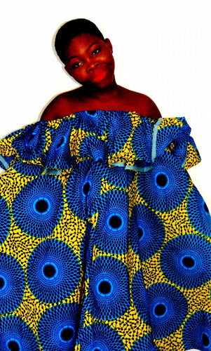 Fever Abigail flared African print dress - SOSOME