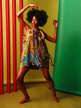 Load image into Gallery viewer, Tassel fringe dress African print oversized Dress.