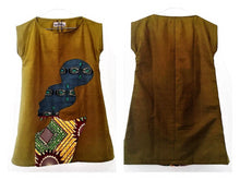 Load image into Gallery viewer, Debro girls motif African print tunic dress.