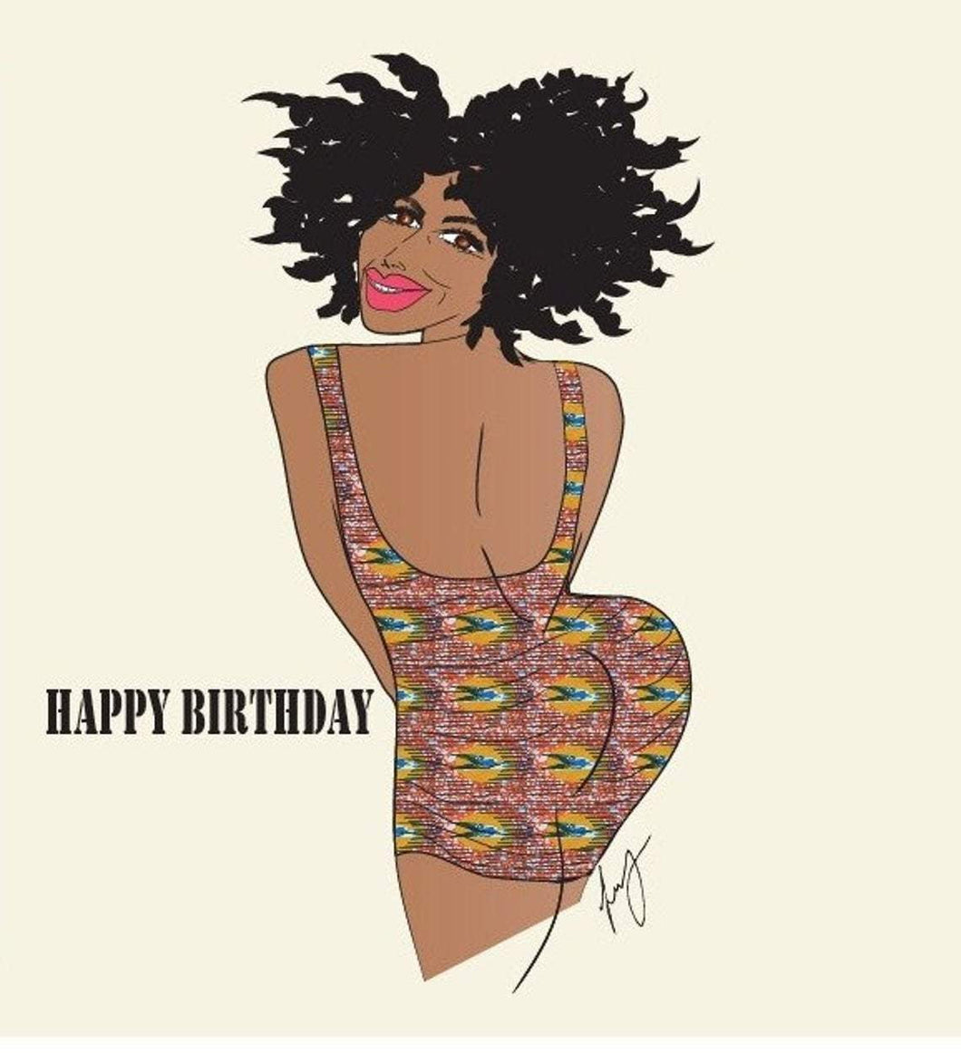 Birthday Black girl cards - SOSOME