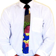 Load image into Gallery viewer, Slim African mix print necktie - SOSOME