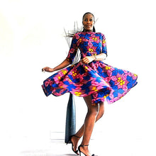 Load image into Gallery viewer, Mariah pink African print dress - SOSOME
