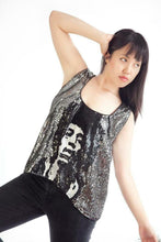 Load image into Gallery viewer, Sparkly Jimi Hendrix women's oversized sequin Top - SOSOME