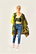 Load image into Gallery viewer, California yellow African print jacket.