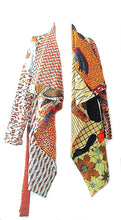 Load image into Gallery viewer, Waterfall long  midi  African print coat Jacket - SOSOME