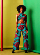 Load image into Gallery viewer, Nala wide leg flare Trouser women Jumpsuit.