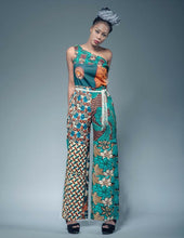 Load image into Gallery viewer, Chelsea modern African print crop jumpsuit.
