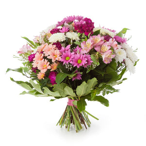 Colorful Beautiful Bouquet in Spiral