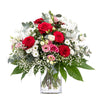 Bouquet In White And Red