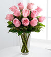 Bouquet of Roses in a Vase (Choose Color)