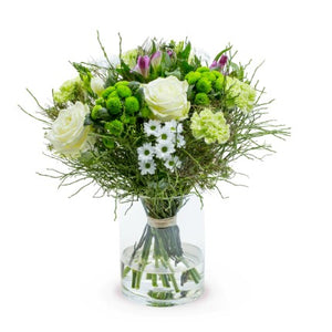A wonderful bouquet in white shades to seal every important moment!