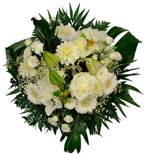Send your wishes with beautiful white flowers for every happy moment.