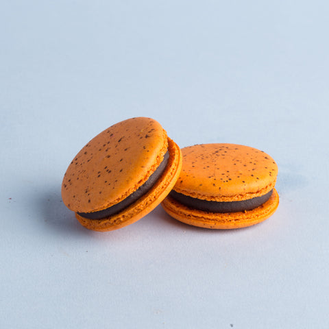 Orange Dark Chocolate Macaron