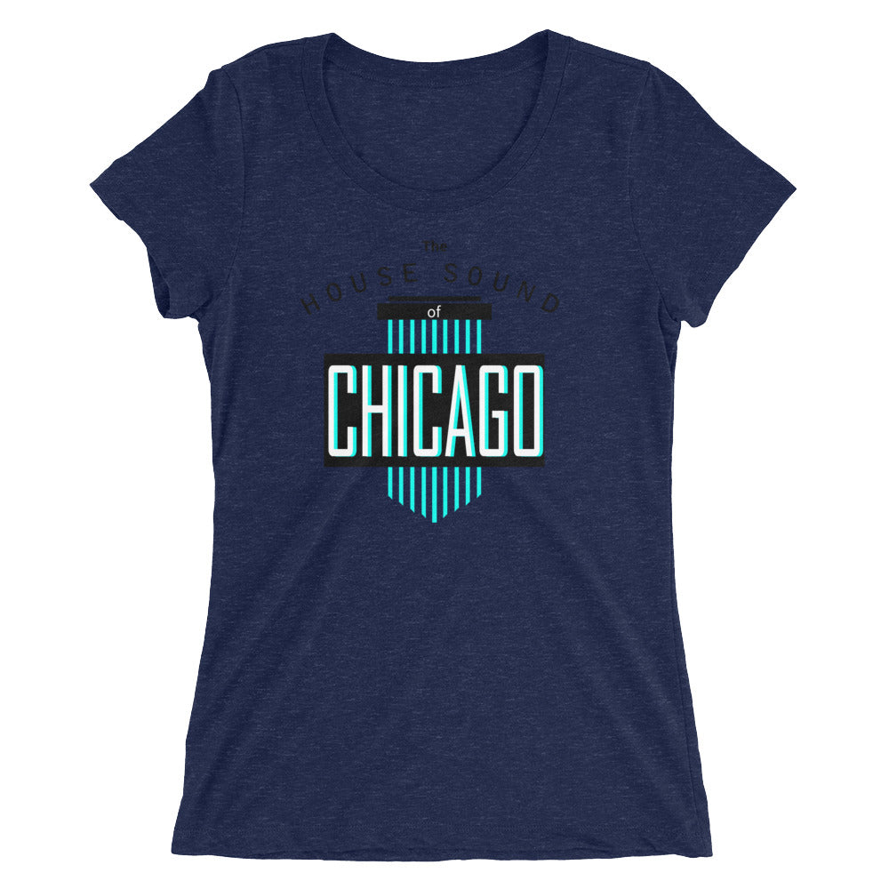 Ladie's Tri-blend Tee | ''House Sound of Chicago''